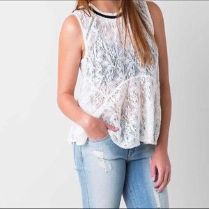 Free People Lace Tank    S.   NWT!!